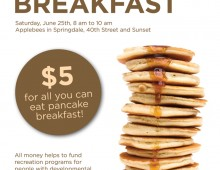 LifeStyles Pancake Breakfast Flyer