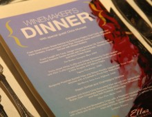 11th Annual Art of Wine Winemaker's Dinner Menu